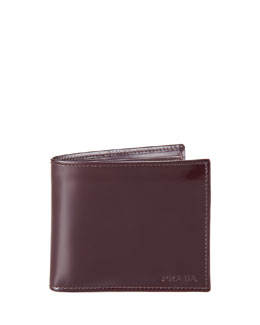 Prada Spazzolato Leather Hip-Fold, Cordovan