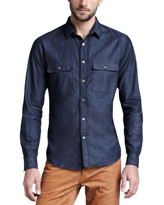 Soft-Wash Chambray Shirt
