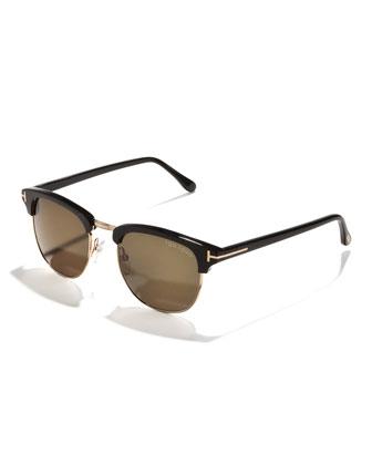 Henry Sunglasses, Rose Gold/Black