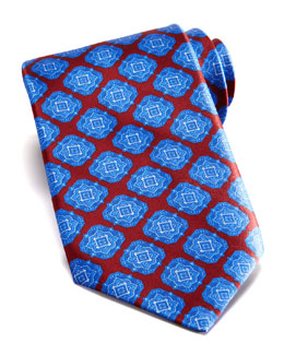 Stefano Ricci Large Medallion Silk Tie, Red/Blue