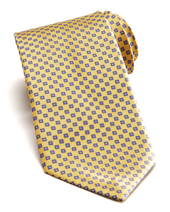 Floral Silk Tie, Yellow