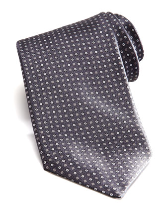 Square & Neat Tie, Gray/Brown