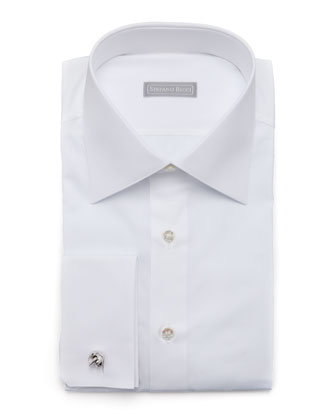 Basic French-Cuff Dress Shirt, White