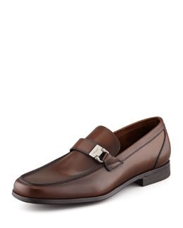 Salvatore Ferragamo Tazio Side Ornament Loafer, Brown