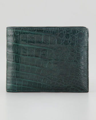 Crocodile Wallet, Hunter Green
