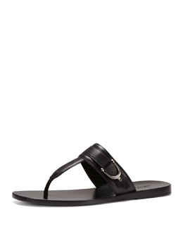 Gucci Karel Leather Thong Sandal