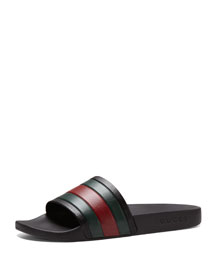 Pursuit '72 Rubber Slide Sandal, Black