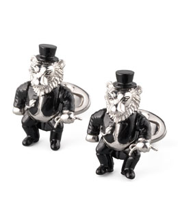 Jan Leslie BG 111th Anniversary Lion Tamer Cuff Links