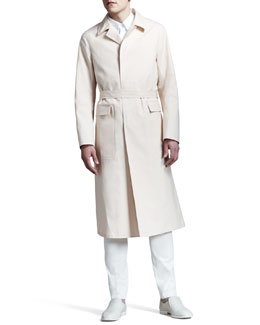 Jil Sander Long Single-Breasted Trenchcoat