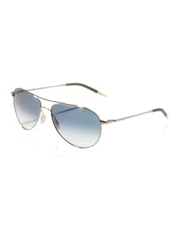 Oliver Peoples Benedict Aviator Sunglasses