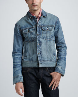 Rag & Bone Medium-Wash Denim Jacket
