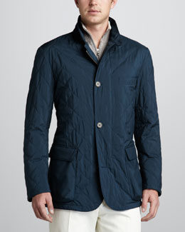 Loro Piana Quilted Roadster Jacket