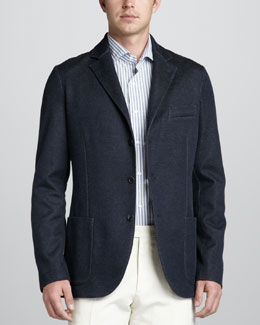 Loro Piana Melange Sweater Jacket
