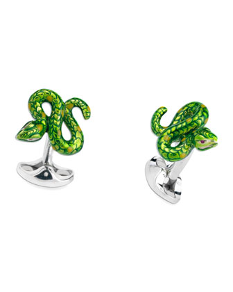 Serpent Cuff Links