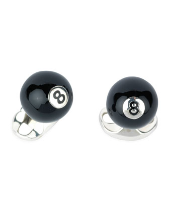 Eight-Ball Cuff Links