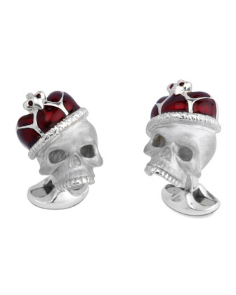 Crowned Skull Cuff Links