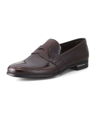 Spazzolato Penny Loafer, Brown