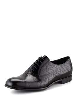 Prada Perforated Spazzolato Leather Lace-Up, Black