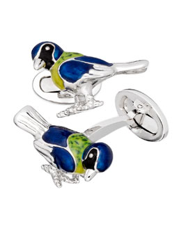 Jan Leslie Tropical Bird Cuff Links