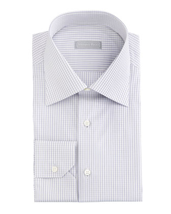 Micro-Check Dress Shirt & Circle-Link Neat Tie