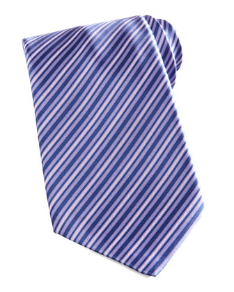 Tonal-Stripe Silk Tie, Purple