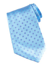 Stefano Ricci Mini-Flower Silk Tie, Light Blue