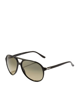 Gucci Plastic Aviator, Black