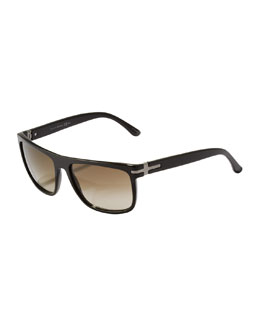 Gucci Square Plastic Sunglasses, Black