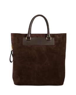 Tom Ford Suede Side-Zip Tote Bag