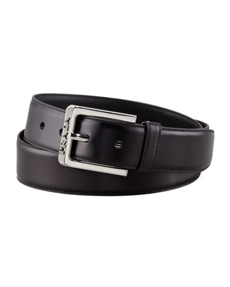 Leather Dress Belt, Black
