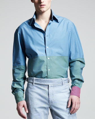 Colorblock Sport Shirt