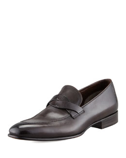 Tom Ford Adney Twist Loafer, Black