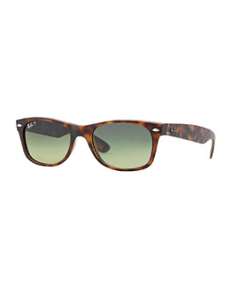 Ray-Ban New Wayfarer Polarized Sunglasses, Havana