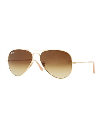 Original Aviator Sunglasses, Gold/Brown
