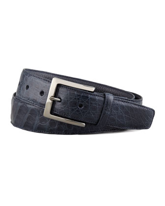 Crocodile Belt, Navy