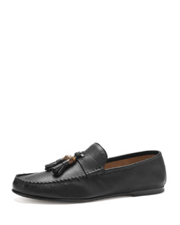 Gucci Balen Leather Soft Moccasin