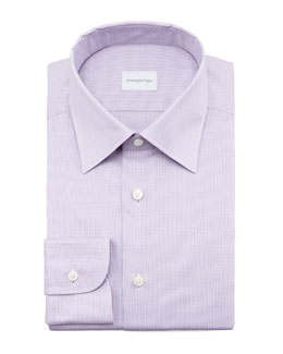 Ermenegildo Zegna Micro-Check Dress Shirt, Lavender
