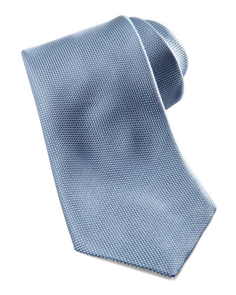 Tonal-Pattern Silk Tie, Blue