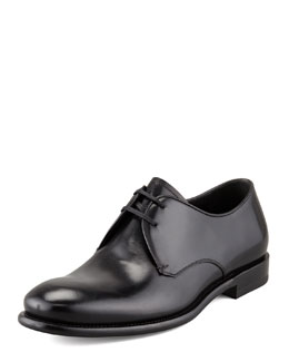 Salvatore Ferragamo Stefano Lace-Up, Black