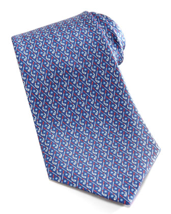 Golf Club Silk Tie, Navy