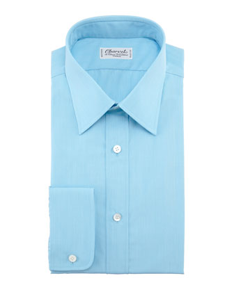 Solid Dress Shirt, Aqua