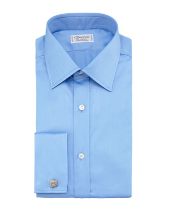 French-Cuff Dress Shirt, Blue