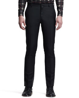 Givenchy Flat-Front Trousers, Black