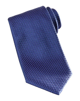 Brioni Textured Silk Tie, Navy