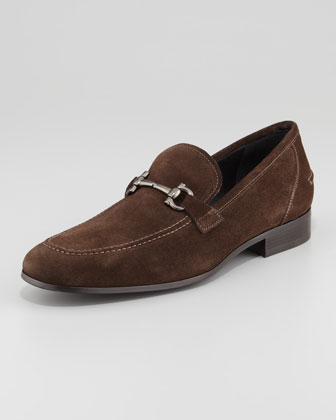 Tappas Suede Bit Loafer, Brown