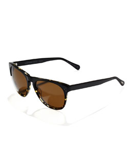 Oliver Peoples Polarized Daddy B Sunglasses, Dark Tortoise
