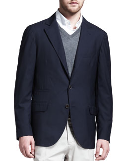 Brunello Cucinelli Deconstructed Travel Jacket, Navy
