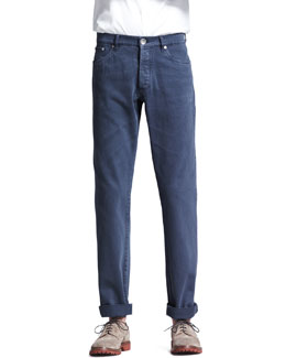 Brunello Cucinelli Basic Fit Jeans, Navy
