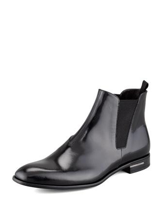 Spazzolato Chelsea Boot, Black