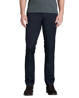 Zegna Sport Flat-Front Taper-Fit Pants, Navy